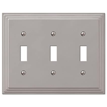 Hampton Bay Steps 3 Toggle Wall Plate Nickel Amazoncom