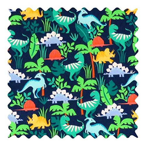 SheetWorld 100% Cotton Flannel Fabric by The Yard, Dinosaurs, 36 x 44 (100 Cotton Flannel Fabric By The Yard)