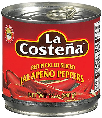 Pickled Red Peppers - La Costena Sliced Red Jalapeno, 12 Ounce (Pack of 12)