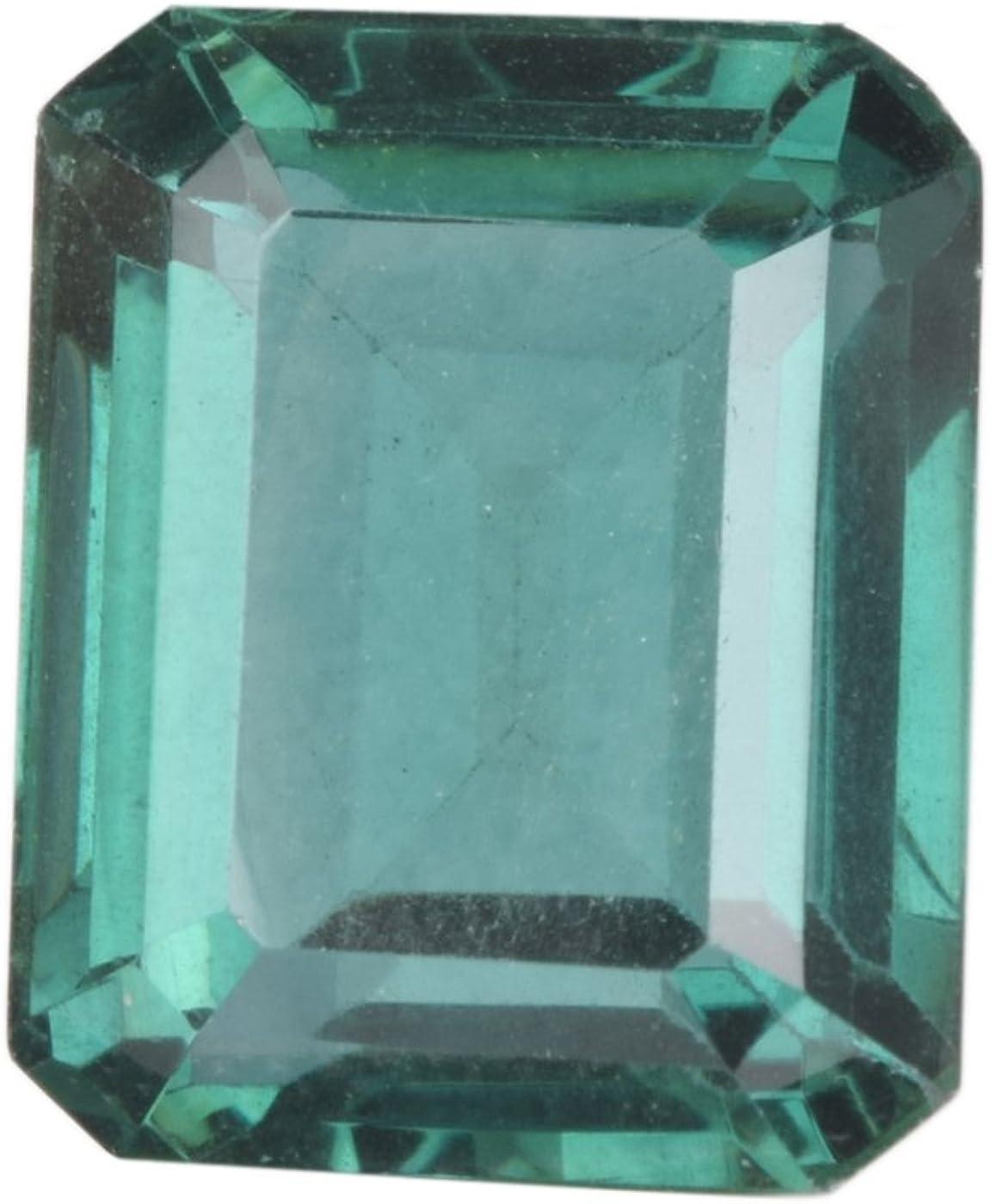 Gemhub Hermosa Amatista Verde 22.50 CT tamaño Colgante de Corte Esmeralda Amatista Verde Piedra Suelta CB-069