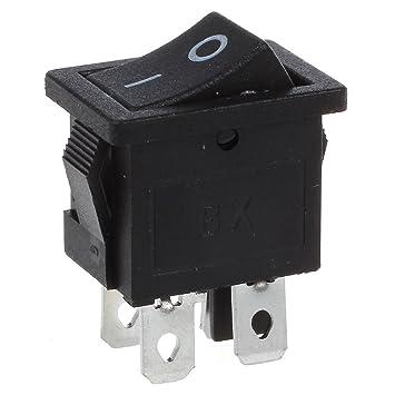 Aus Ein Wippschalter AC 250 V 16A 125 V 20A QY 6 Pin DPDT Schwarz Taste Ein