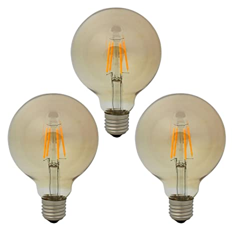 G95 E27 Globo Bombilla LED Retro Edison Filamento Vintage Golden Bombillas, 4W / 300LM,