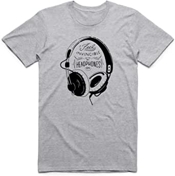 Gray Music T-Shirt For Men, Size XL, Color White Gray