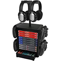 Number-one Game Storage Tower Bracket, Multifunction Gaming Disks Organizer Rack, Most Storage 10 Disk, 2 Headsets Stand…