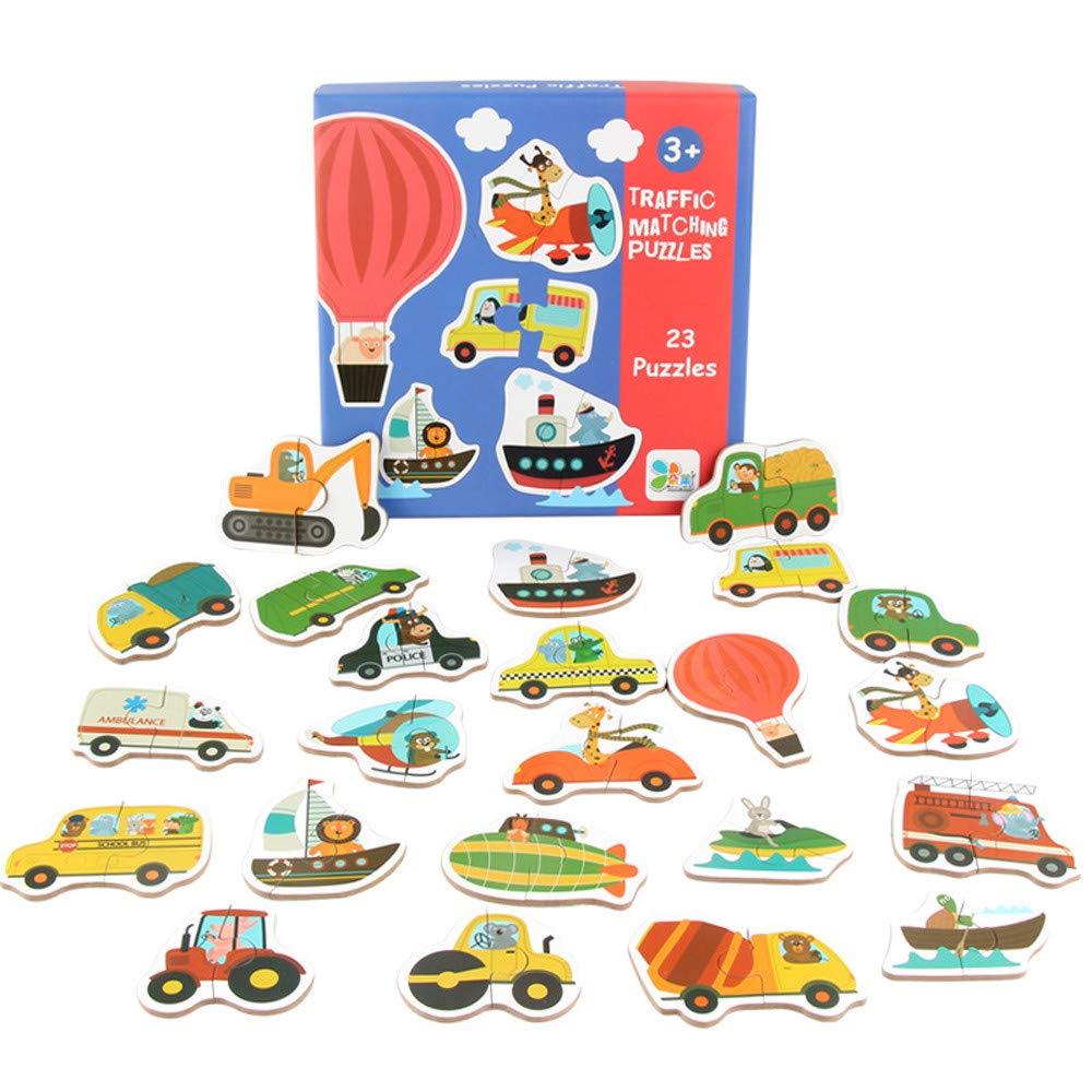 callm 木製パズルおもちゃ 子供 赤ちゃん 木製動物コグニッションパズル フルーツ学習教育玩具 B07K2MLFXK B