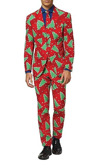 OppoSuits Traje navideño Arbol de Navidad entallado-60 ...