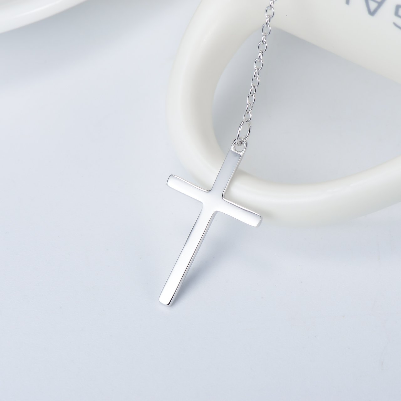 bf6a476bb631e Infinity Cross Pendant Y Necklace Lariat Style | .925 Sterling Silver | 3  Finishes Available