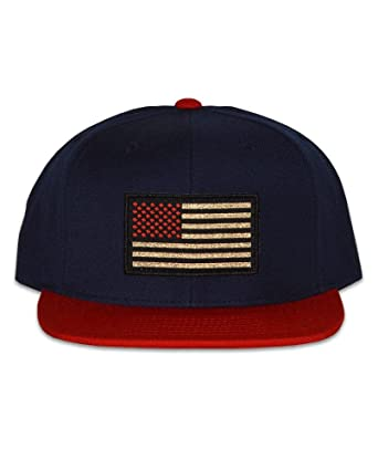 ad772c2ee70f1 ... germany connetic old glory snapback in navy blue and red and red and  gold patch ccb50