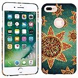 iPhone 7 Plus Case / iPhone 8 Plus Case - Sunflower Pizza Hard Plastic Back Cover. Slim Profile Cute Printed Designer Snap on Case by Glisten