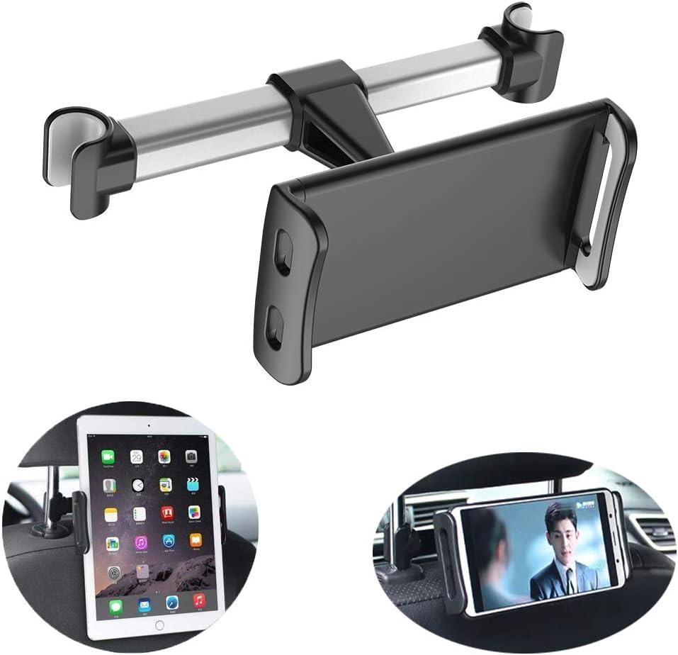 Homeet Soporte Tablet Coche Soporte para Reposacabezas Sporte del Asiento Trasero Soporte Base Ajustable 360° Silicona Antideslizante para 4