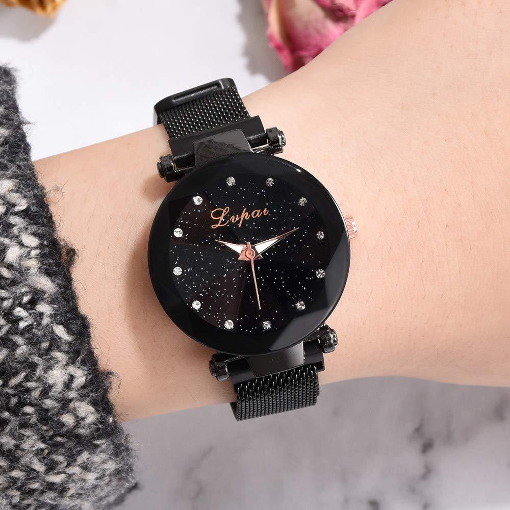 Amazon.com: Weiyun Fashion Starry Sky Stainless Steel Mesh Belt Watch Casual Quartz Analog Watch: GPS & Navigation