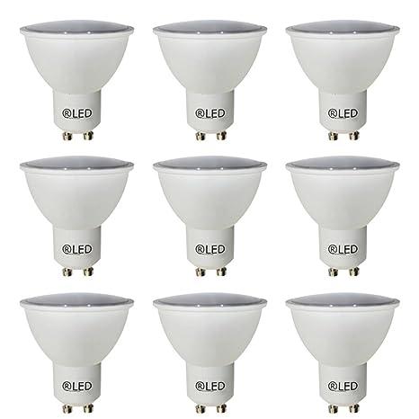 RLED Pack de Bombillas LED con Luz Neutra GU10, 5 W, Blanco, 52
