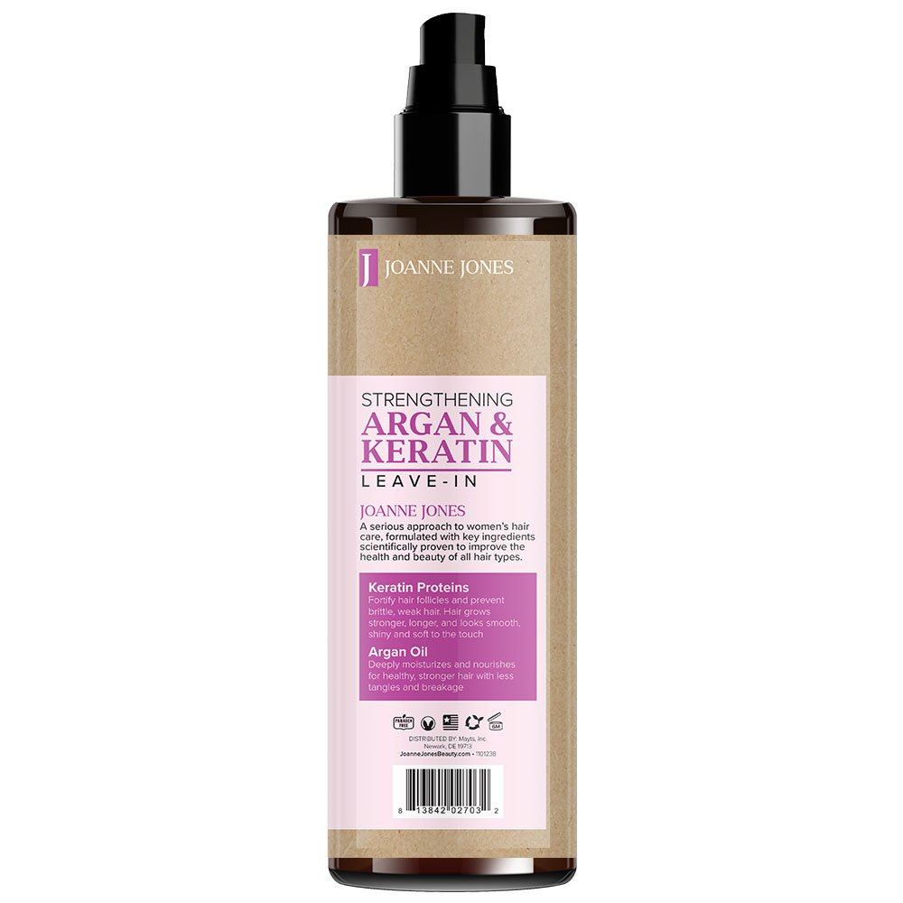 8eaf9b5de04 Amazon.com : JOANNE JONES Strengthening Natural Argan and Keratin Hair  Shampoo, Conditioner and Hair Styling Leave-in Spray Protect Against  Breakage for ...