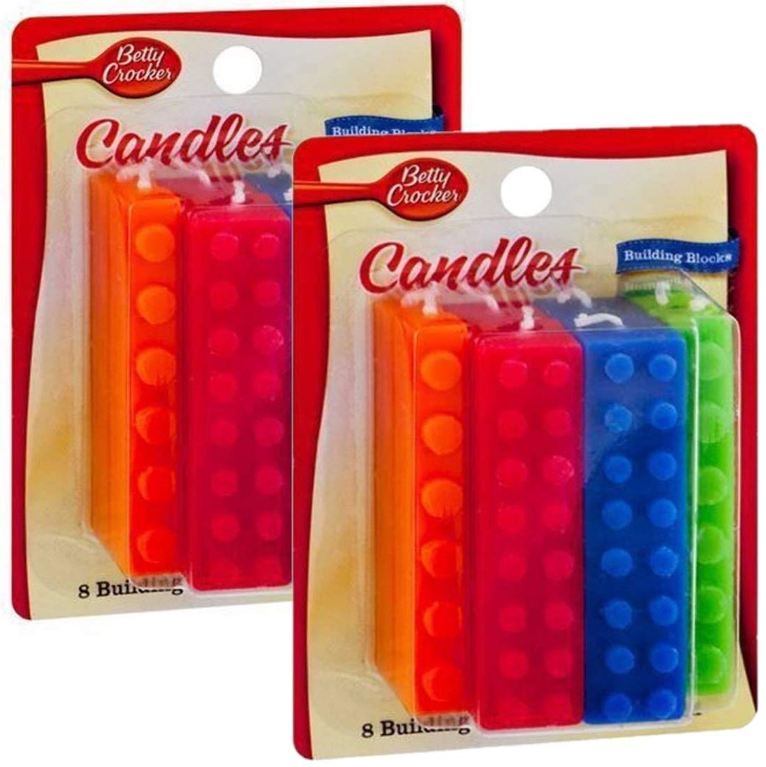 Betty Crocker Building Block Candles (Pack of 2)