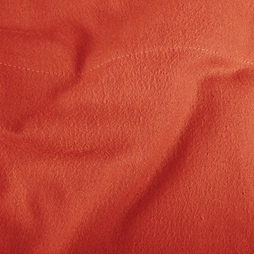 Pinzon Lightweight Cotton Flannel Sheet Set - Twin Extra-Long, Burnt Orange