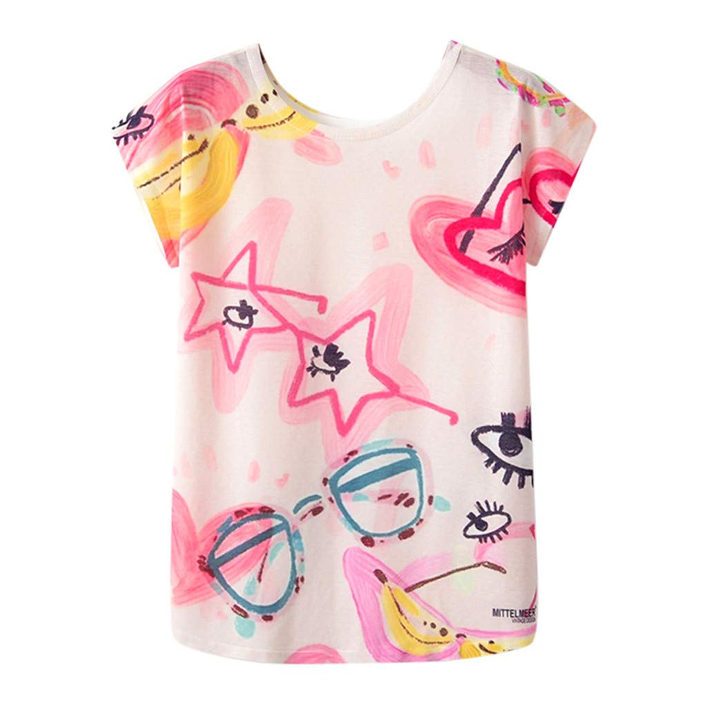 Toponly Geometric Animal Print T Shirt for Women O-Neck Tops Short Sleeve Casual Shirts Tunic Blouse Tee