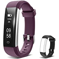 Sliwei Fitness Tracker, Heart Rate Monitor Activity Tracker with Connected GPS Tracker, Step Counter, Sleep Monitor, IP67 Waterproof Pedometer for Android and iOS Smartphone