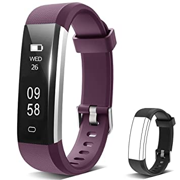 Oldhorse Montre Connectée,Bracelet Connecté Fitness Tracker dActivité Montre Cardio Sport avec Cardiofréquencemètre