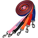Personalized (Custom Embroidered) Pet Leads – for Large, Medium, or Small Dogs. Strong and Lightweight with a Spacious Handle for Comfort. These Leashes Are Made for Everyday Walking.