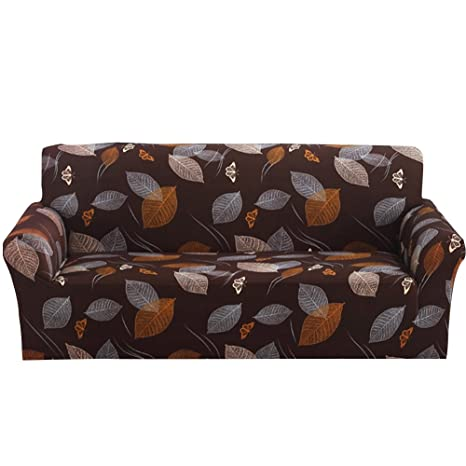 Tomtopp Printed New Cloth Art Spandex Stretch Slipcover Sofa Cover with Arm (3 Seats)