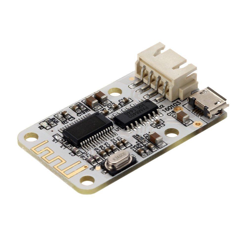 WINGONEER tablero de DC 5V 2x3W Bluetooth Receptor de audio amplificador digital Junta mó dulo Bluetooth Receptor de audio amplificador micro USB T0435