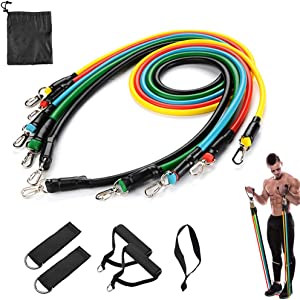 Centenary Fitness Resistance Bands Set Exercise Bands Portable Home Gym Workouts Bands Accessories for Resistance Training,Physical Therapy,Gym Training,Yoga 100LB