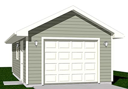 Amazon.com: Garage Plans: 1 Car Garage Plan 364-1 - 14' x 26' - one on gambrel style pole barn plans, one level craftsman house plans, deck plans, 10 x 20 building plans, mini car plans, one story bungalow floor plans, homemade car lift plans, one level garage apartments, auto shop plans, one story house plans, small apartment floor plans, one car shed, one floor house plans with open concept, two story plans, utility trailer plans, driveway plans, breakfast bar plans, shed plans, covered patio plans, 24x30 pole barn plans,