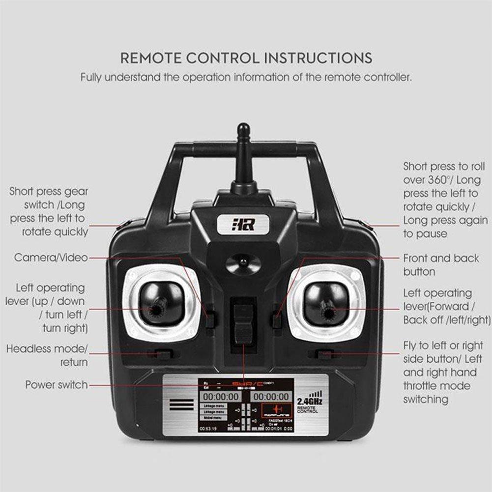 Cewaal Wireless SH5W 2.4G 4CH 4Axis de Control Remoto avión ...