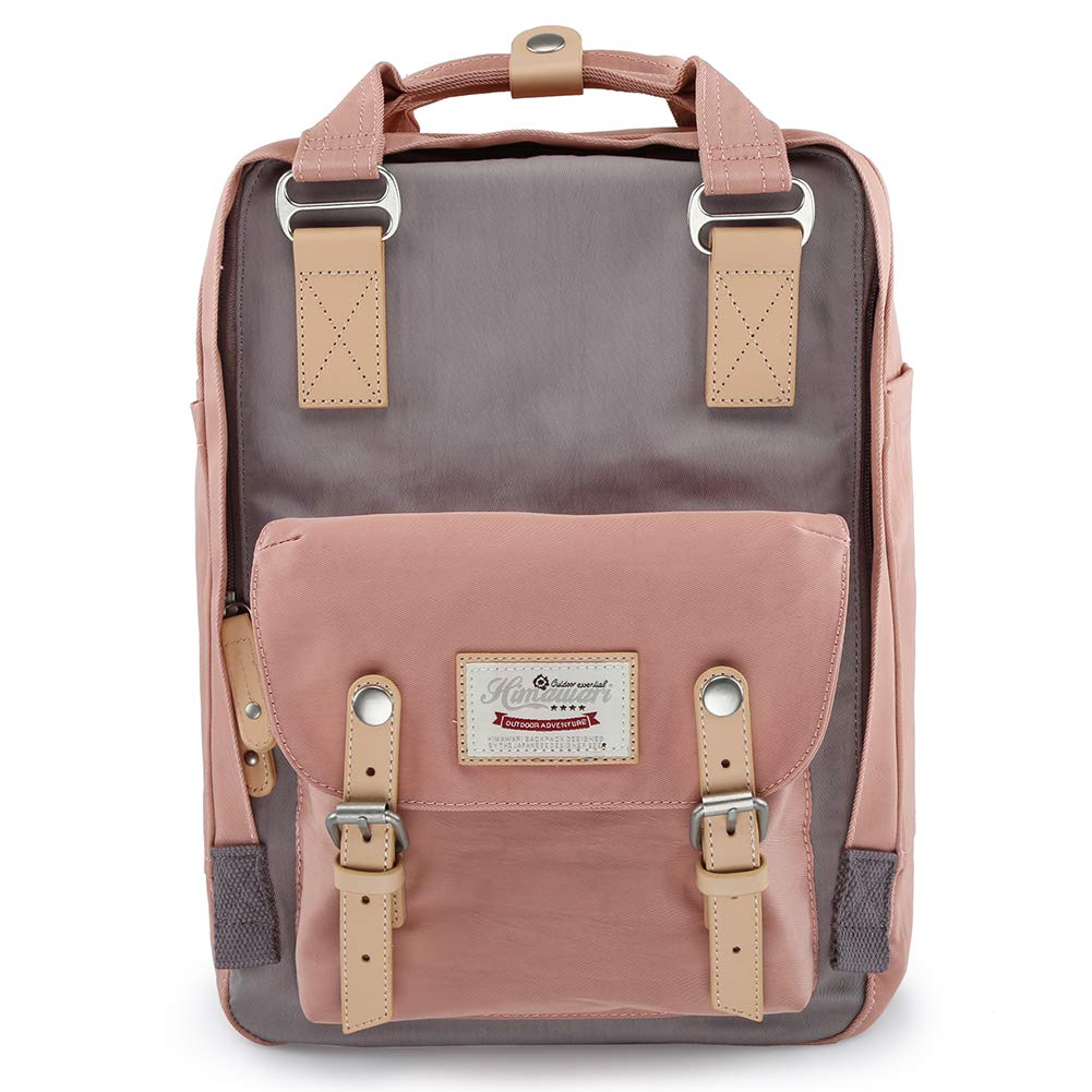 himawari School Laptop Backpack for College Large 17 inch Computer Notebook Bag Travel Business Backpack for Men Women, Light Pink