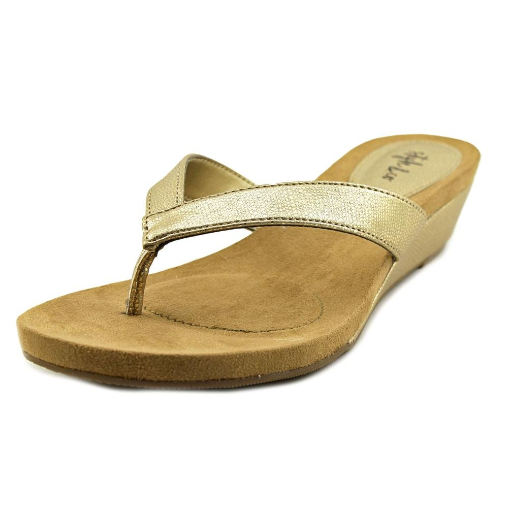 Style & Co. Womens Haloe Open Toe Casual, Champagne, Size 7.5