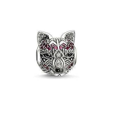 f132083f4 Thomas Sabo - Thomas Lock raposillaconstellation Bead with Silver Roses and  Black circonios K0180 - 691 - 7: Amazon.co.uk: Jewellery