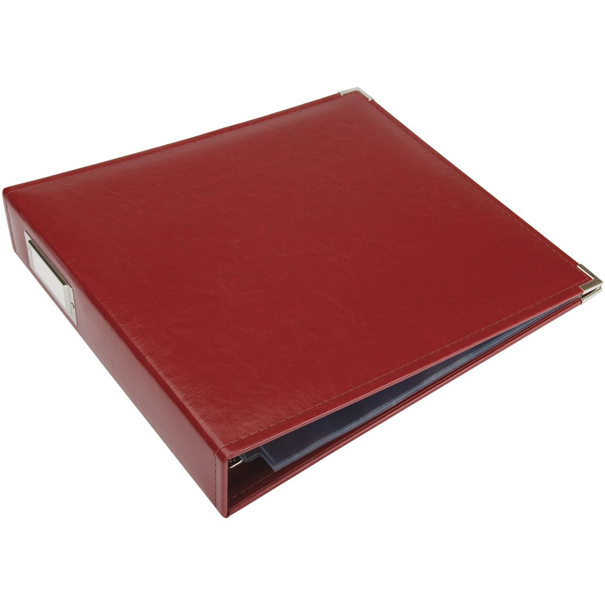 12x12 Faux Leather 3-Ring Binder: Wine
