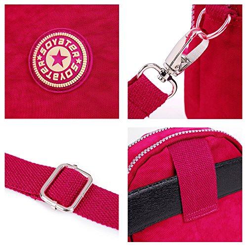 Tote Body Casual Travel Pocket Pink Cross Bag Nylon Women's Waterproof Messenger Multi BUY Bag Purse SUNRAY Hot XwIPqtOn