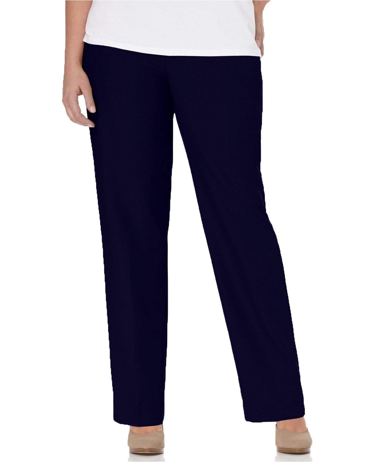 Alfred Dunner Womens Plus Short Pant, Blue, 24W
