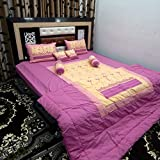 Peponi Cotton Wedding Bedding Set 8 Pcs (1 Quilt, 1 Double Bed Sheet, 2 Pillow Covers, 2 Filled Cushions, 2 Filled Bolster)
