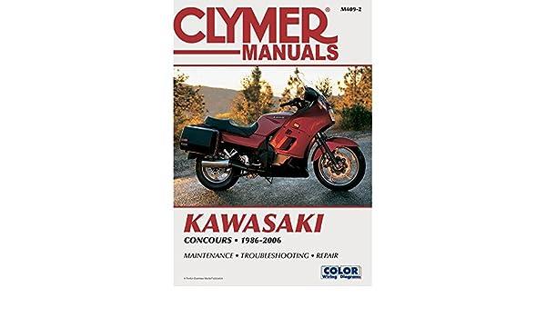 Amazoncom Clymer Repair Manual For Kawasaki Concours Zg 1000 A 8606 M4092 Automotive: Kawasaki Gtr 1000 Wiring Diagram At Anocheocurrio.co