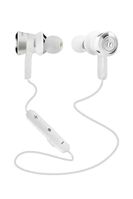 a9a8e1a3ed0 Monster Clarity HD In-Ear Bluetooth Wireless Headphones with ControlTalk  Mic, White - MH