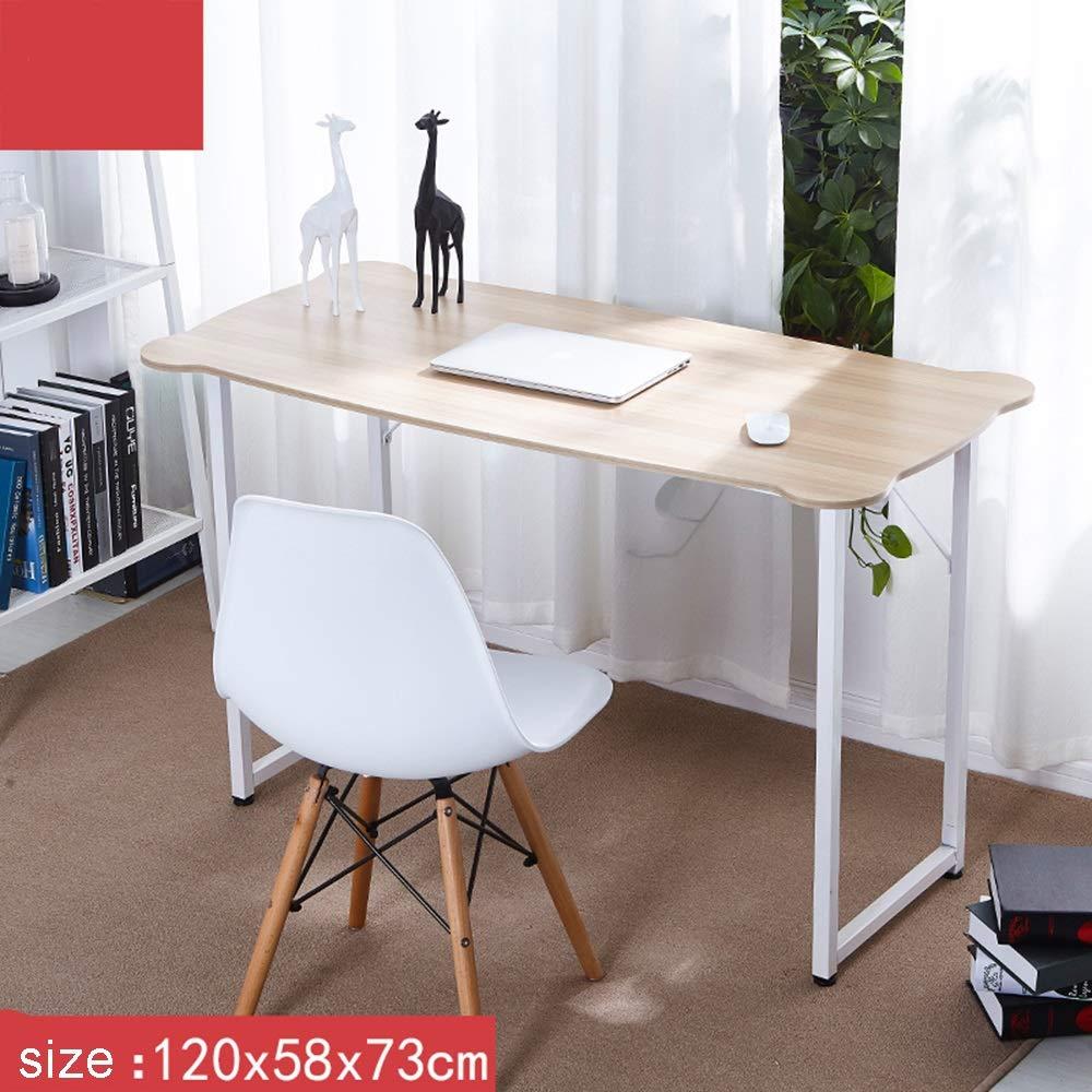 ZXQZ Scrivania Desktop da scrivania, scrivania da scrivania per Computer Portatile, Home Workstation di Ricerca scrivania Pieghevole (Dimensioni   120  58  73cm)