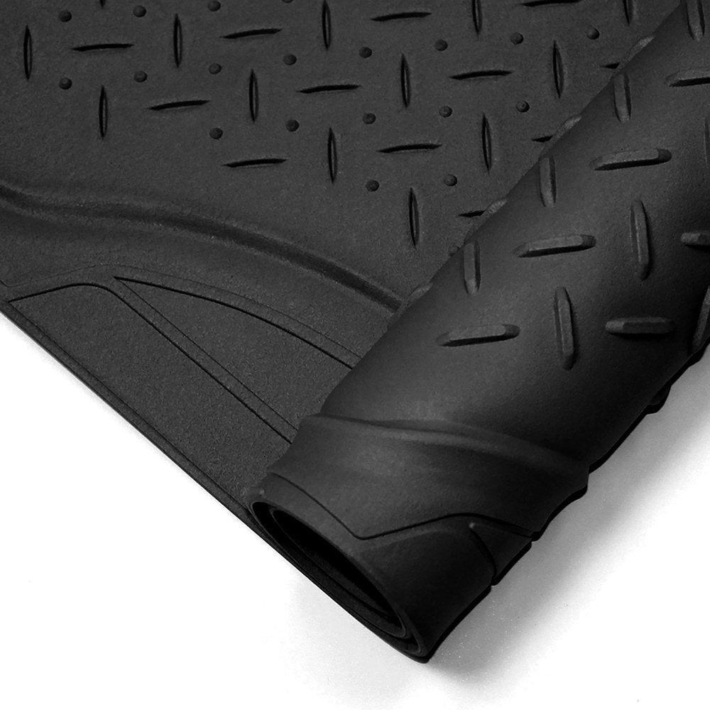 Amazon com oxgord weathershield hd rubber trunk cargo liner floor mat trim to fit for car suv van trucks black automotive