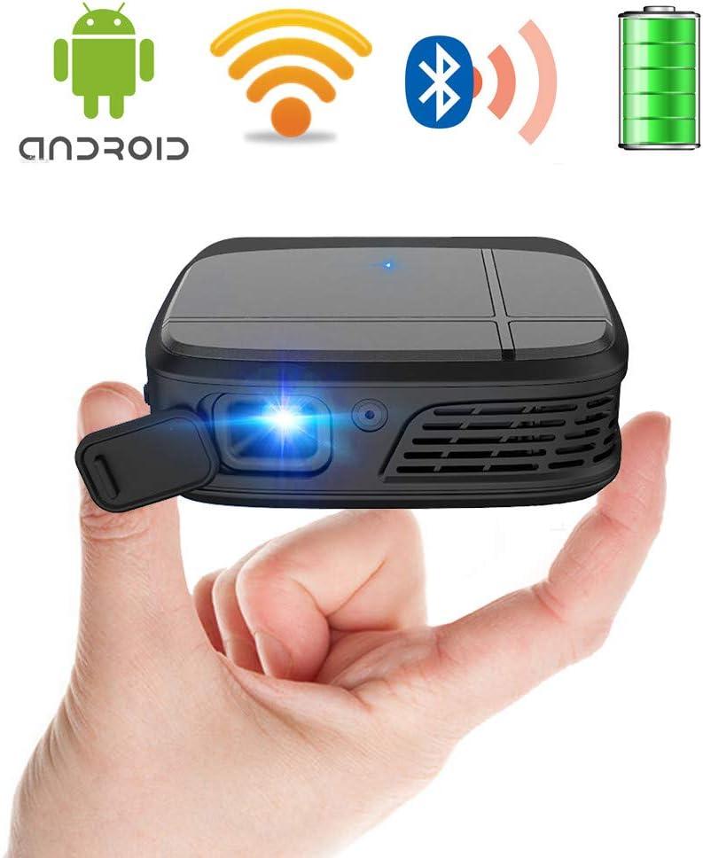 Mini Pocket Wifi Proyector con Bluetooth, DLP 1080P Full HD ...
