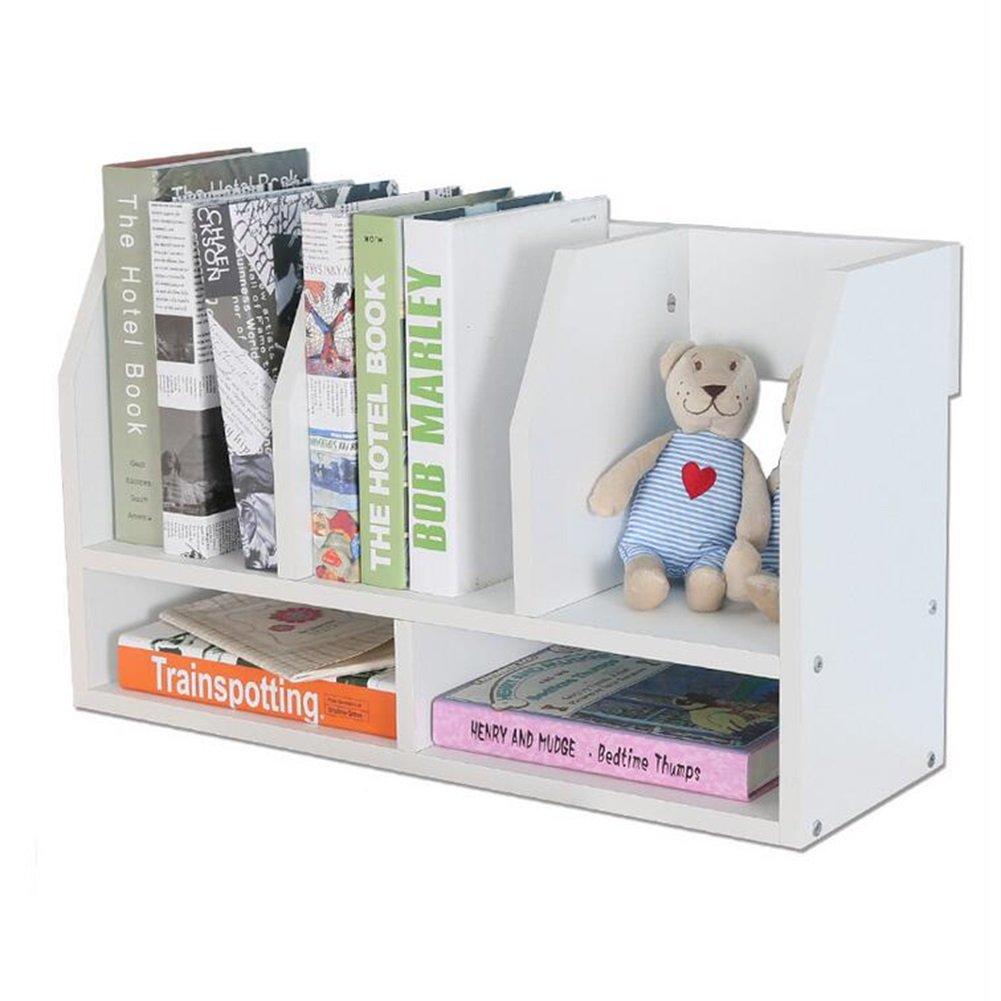 Utility Racks Desk Shelves Children's Easel Small Office Storage Shelves Desktop Bookcase ( Color : White )