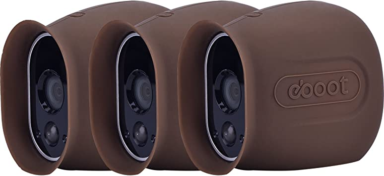 3 Pack Silicone Skins Arlo Smart Security Wire Free Cameras Cover Dark Brown New