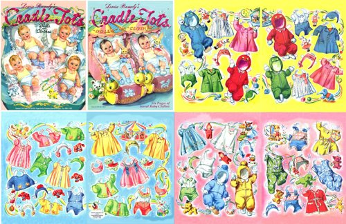 Cradle Tots, Restored 1945 Paper Doll By Louise (Cut Out Doll Costumes)