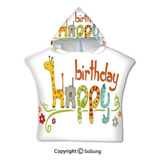 Toalla de baño con capucha para decoración de cumpleaños ...