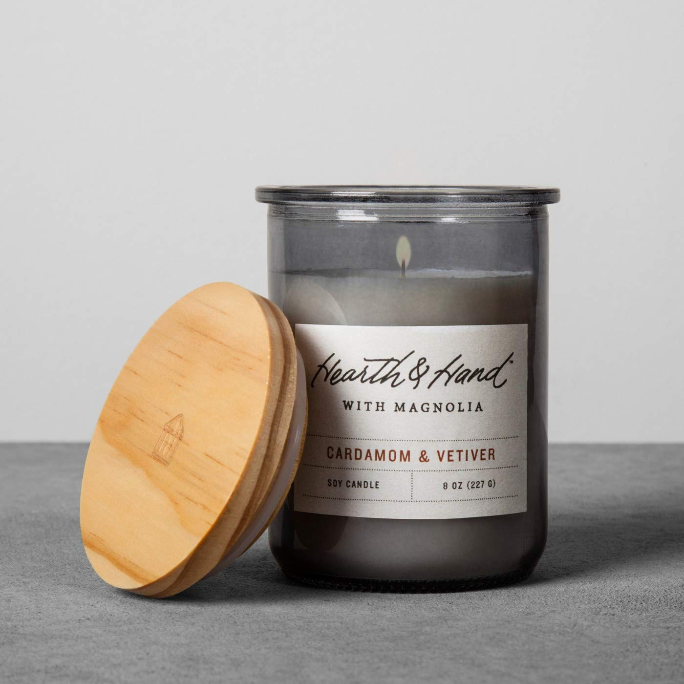 Hearth /& Hand with Magnolia Hearth and Hand Magnolia Lidded Jar Container Soy Candle 8oz Farmhouse Joanna Gaines Collection Cedar Magnolia