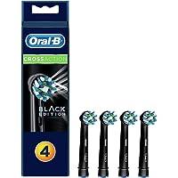Oral-B Diş Fırçası Yedek Başlığı Cross Action, Siyah, 4 Adet