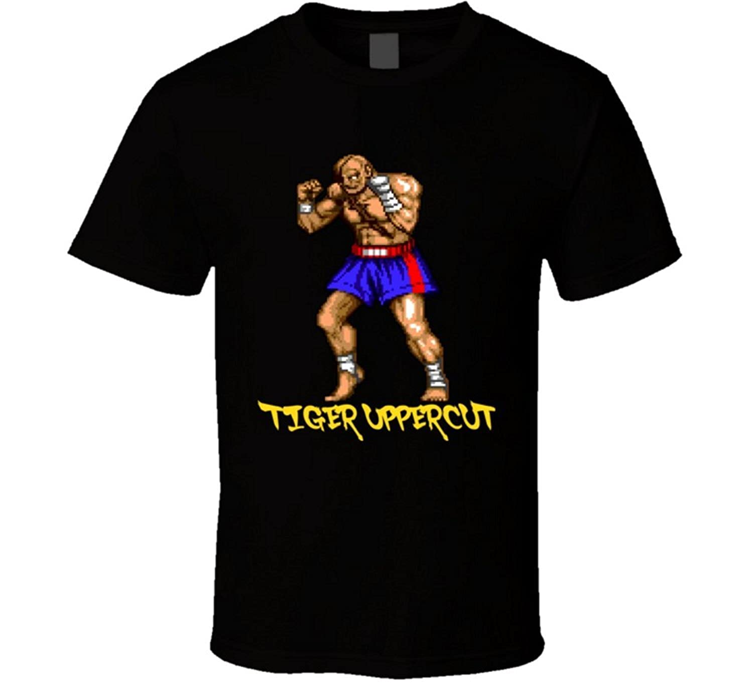 The Ice man T-Shirt Bandit Sagat Street Fighter Video Game Classic T Shirt Black