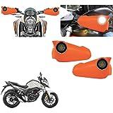 Vheelocityin Bike Hand Guard Motorycle Hand Protector with Bright Light Orange For Honda Cb Hornet 160R