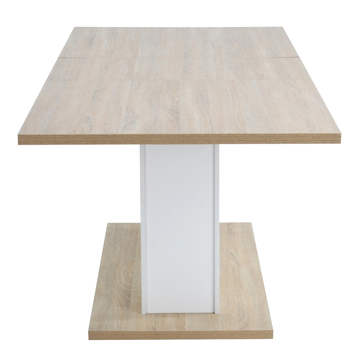 Extendable Rectangular Dining Table, Mltifunction Space Saving Wood Table (Extendable Beech Table) by HOMY CASA (Image #7)