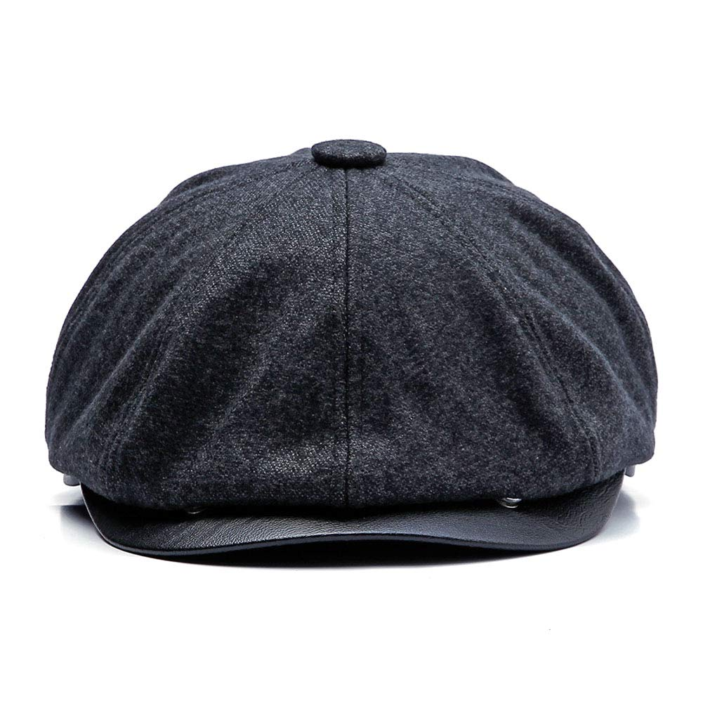 de61e645 GESDY Mens Winter Octagonal Cap Wool Blend Fleece Lining Warm Newsboy  Windproof Driving Hat Cabbie Gatsby Golf Beret at Amazon Men's Clothing  store: